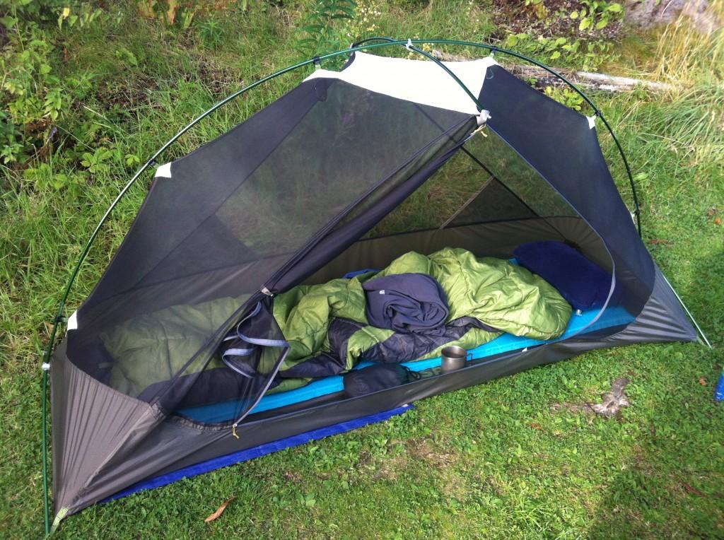 MSR Hubba tent inside