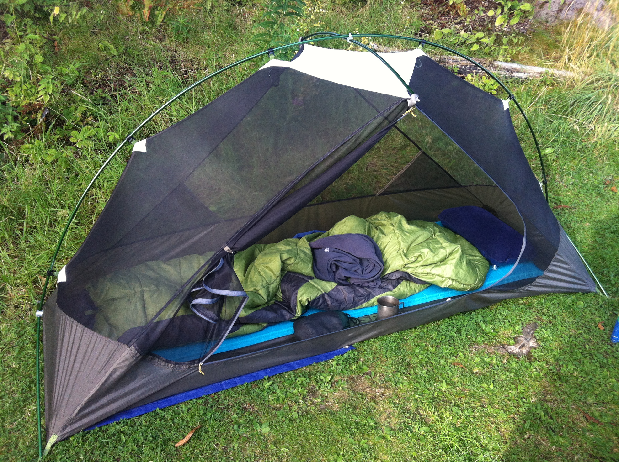 MSR Hubba tent inside & MSR Hubba Backpacking Tent tent review and modifications