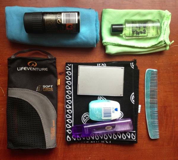 backpacking wash kit
