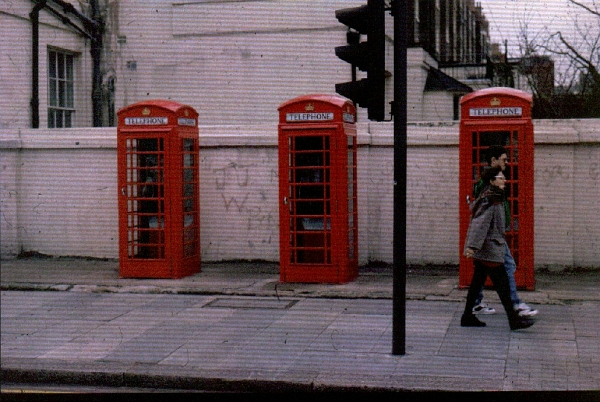 Telephone Boxes London - shot on instant Polaroid slide film