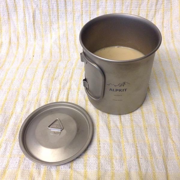 Llightweight titanium mug