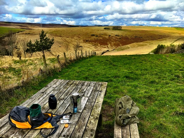 Tea break on the Southern Upland Way, Easter 2016
