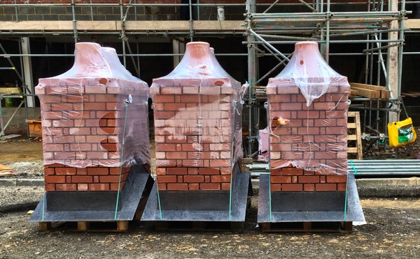 Shrink wrapped chimneys  - Lincoln