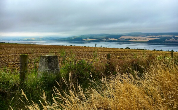 Cromarty Firth and the A9 bridge in the distance from a geocache