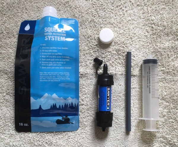 New gear - Sawyer Mini Water Filter