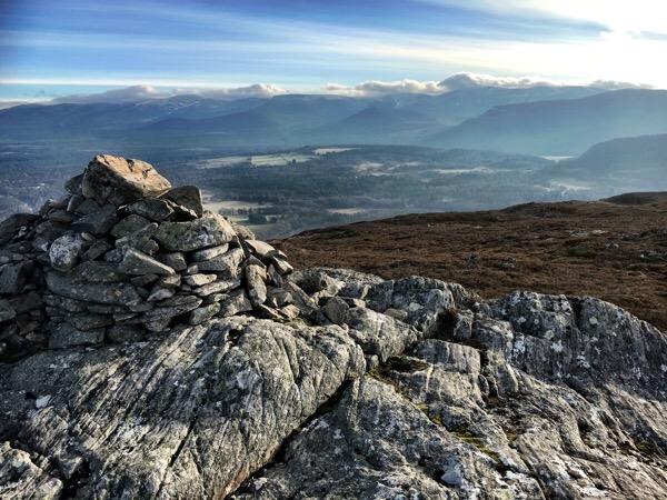Walking to the summit of Craigellachie