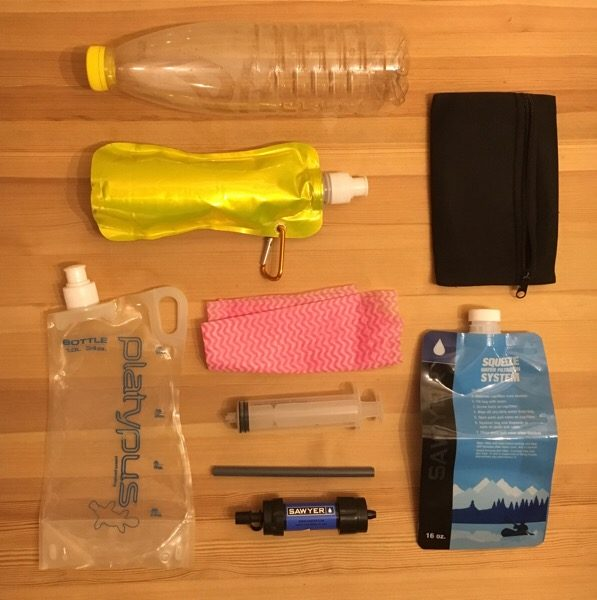 Backpacking Water - bottles and bladders
