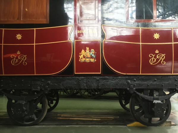 Victorian Royal Mail train carriage