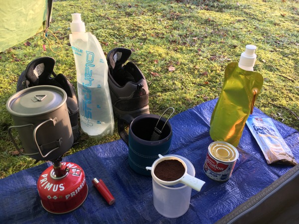 Coffee when camping