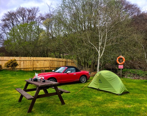 Tent up - Lauder Camping and Caravan Club