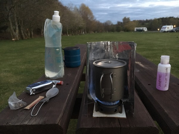 Vango titanium meths stove and Alpkit gear