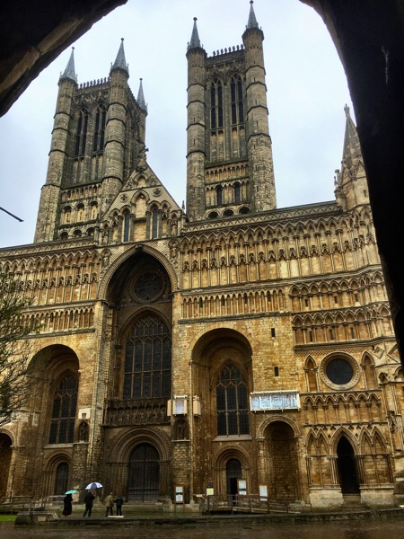 Sheltering from the rain Lincoln Minster