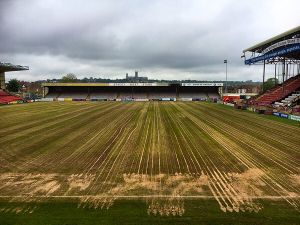 Work on the pitch - Lincoln City Football Club
