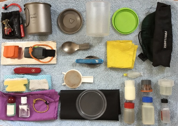 lightweight backpacking cooking kit