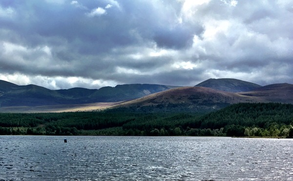 Loch Morlich and the Cairngorm Mountains