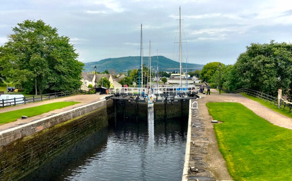 Yachts in the Caledonian Canal Locks