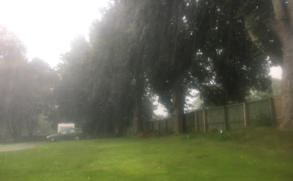 Thunder storm at Dingwall Campsite