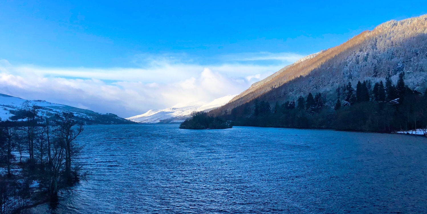 Loch Tay with snow