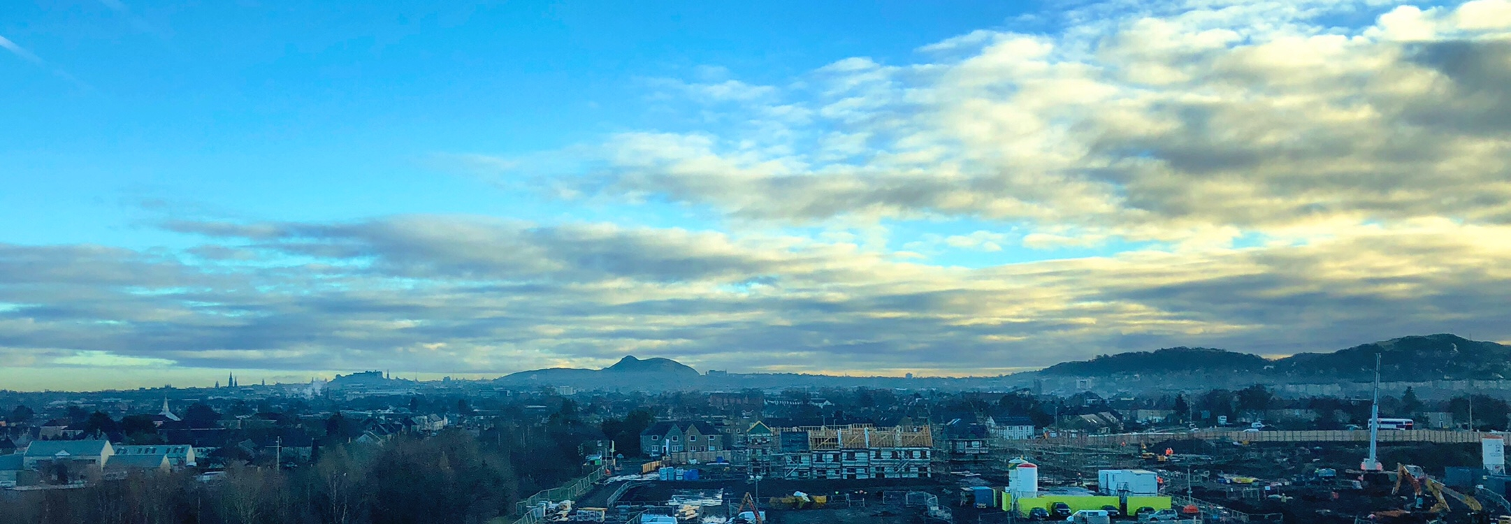 Edinburgh - Taken from the 5th floor of the Napier Sighthill Building.