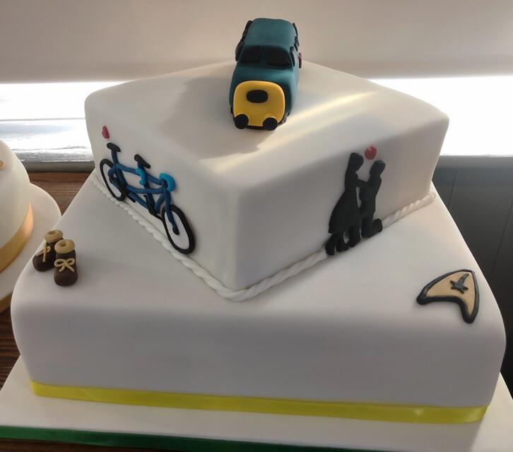 Chris and Pat's wedding cake