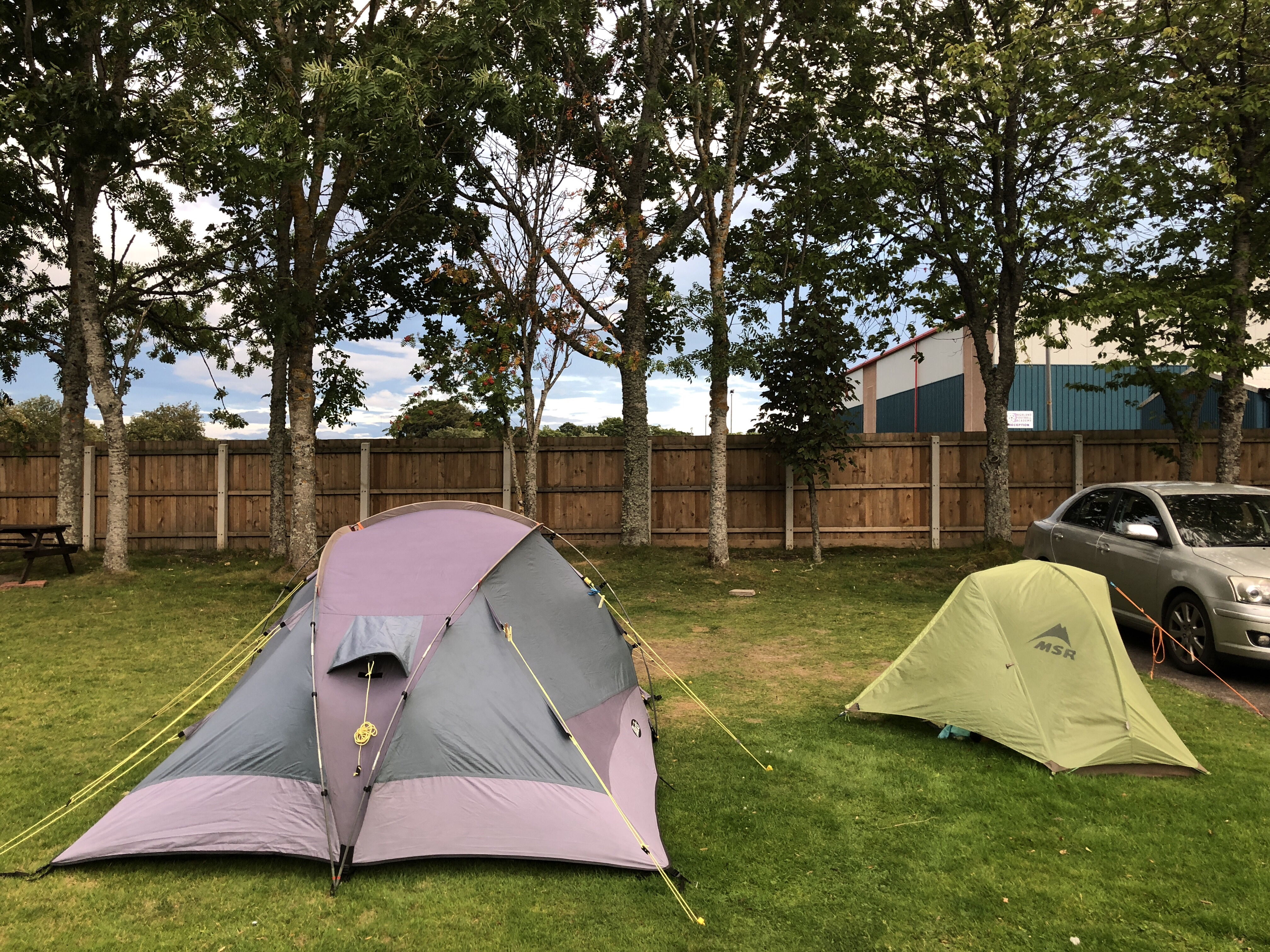 Camping at Jubilee Park Campsite