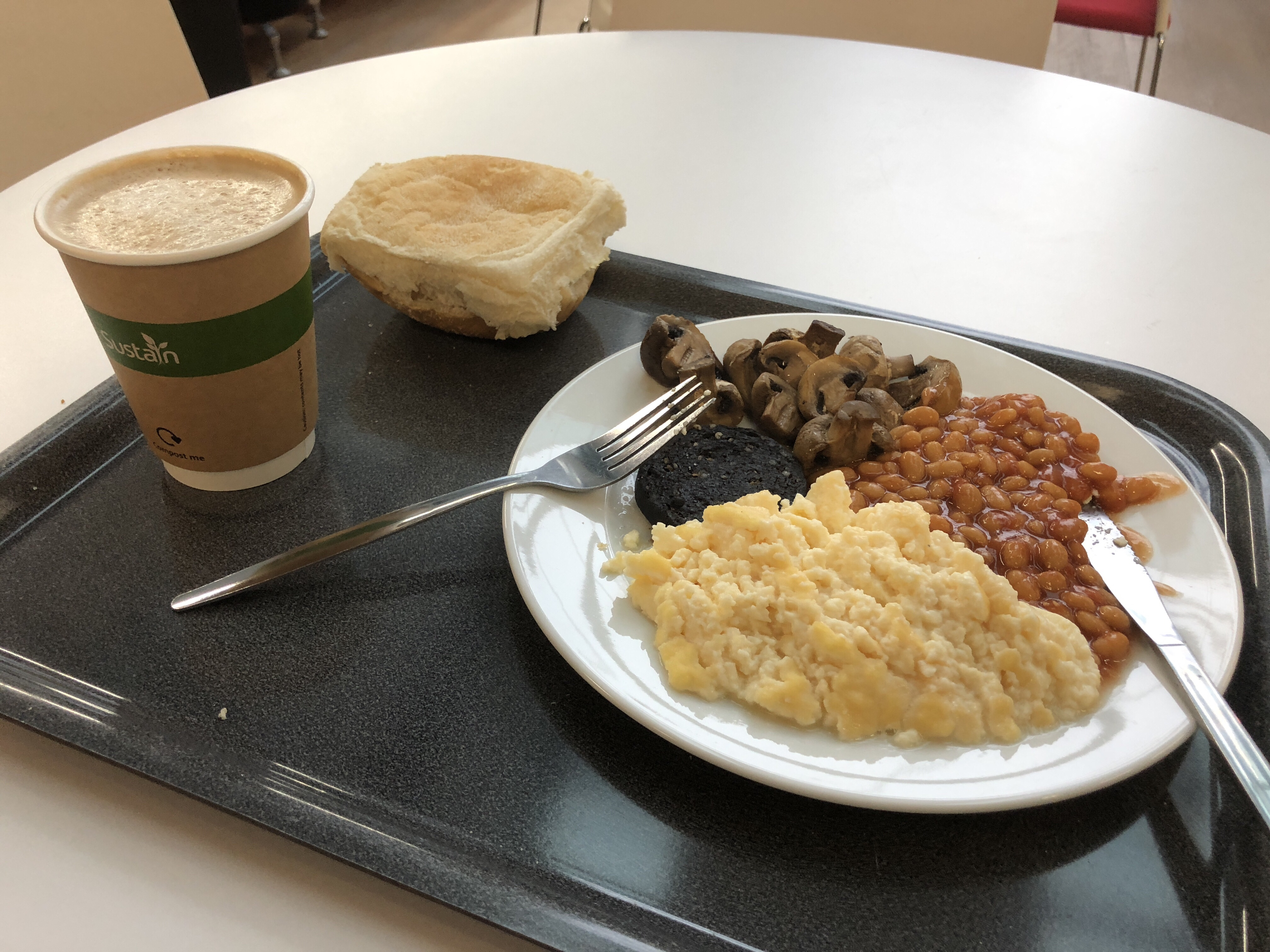 student breakfast at Napier University