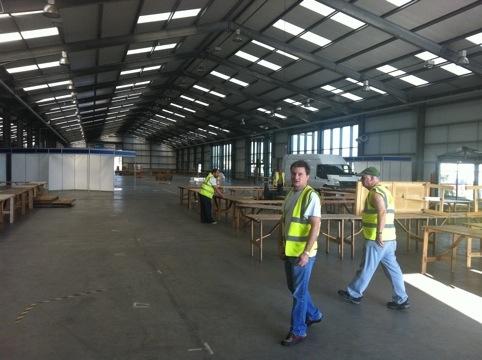 National Hamfest - setting up